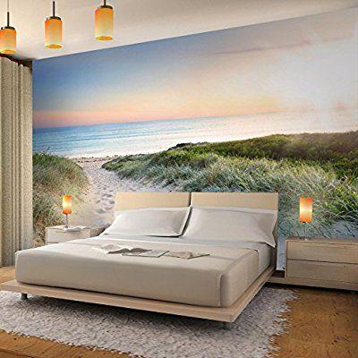 Fototapete Strand Meer 352 x 250 cm Vlies Wand Tapete Wohnzimmer - tapete für wohnzimmer