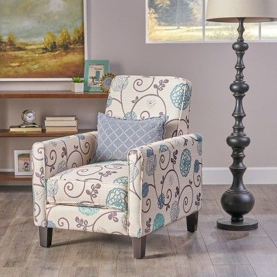 Darvis Fabric Recliner White Christopher Knight Home