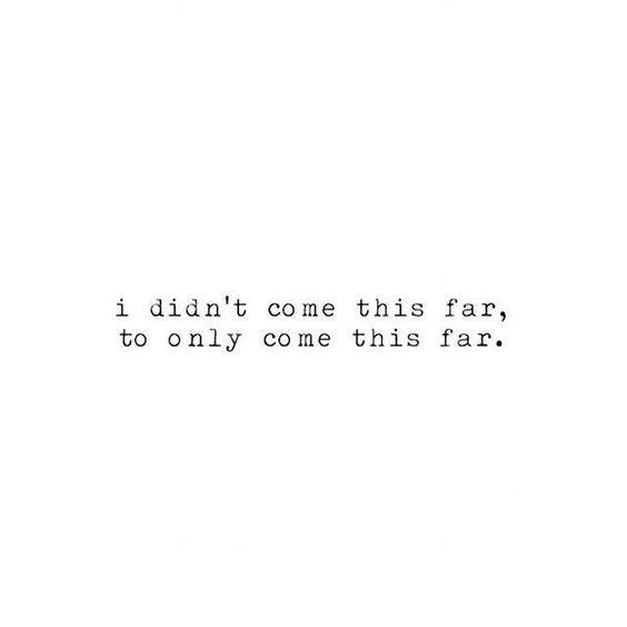 This far.