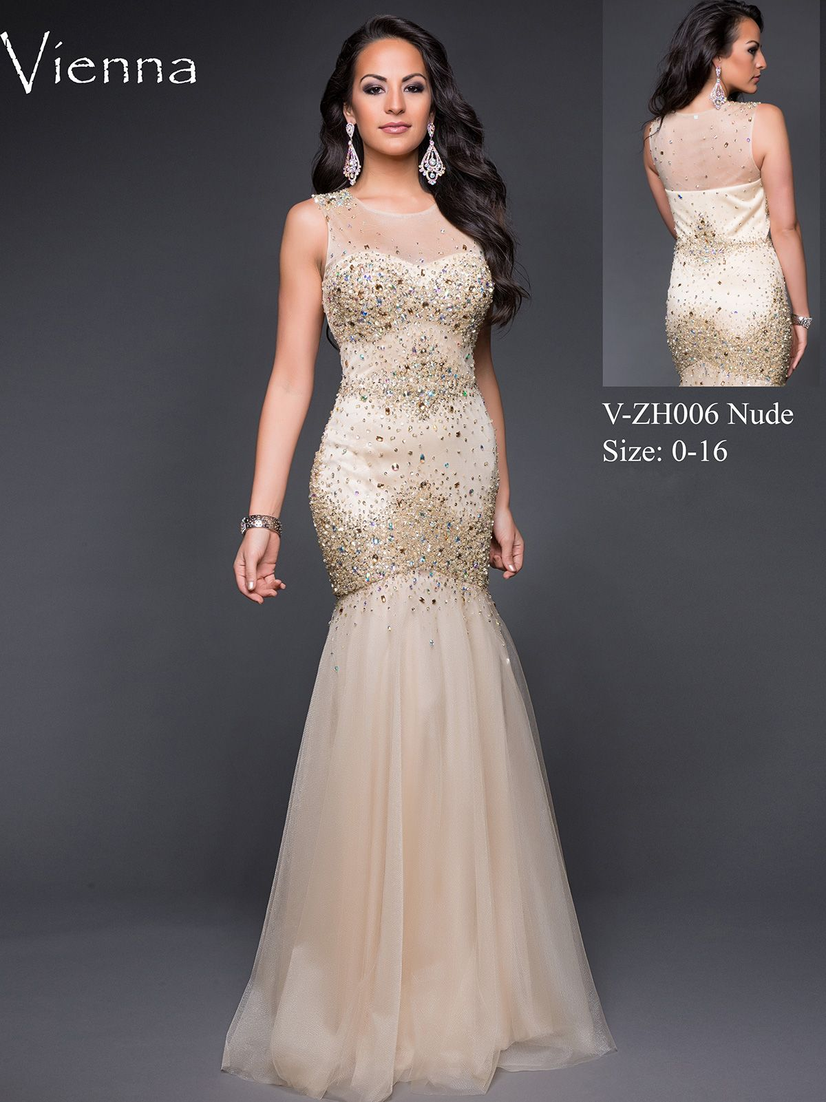 High Neck Sheer And Beaded Top Formal Prom Dress Vienna Zh006 Formal Dresses Prom High Neck Prom Dress Dresses [ 1601 x 1200 Pixel ]