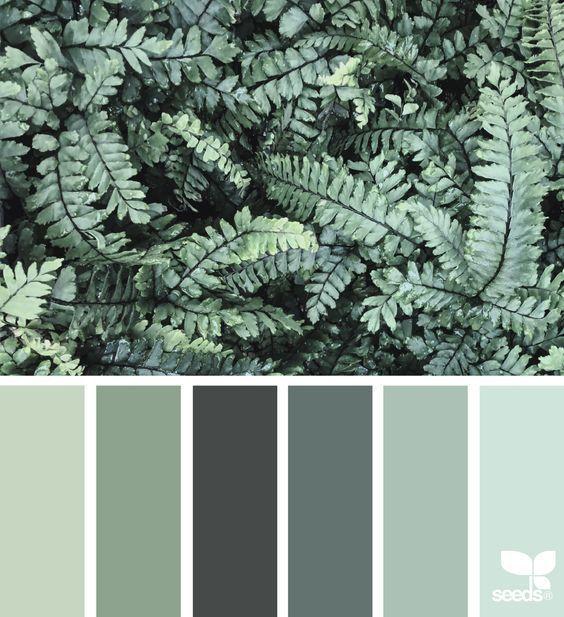 Grüne Farbpalette, Farbschemata