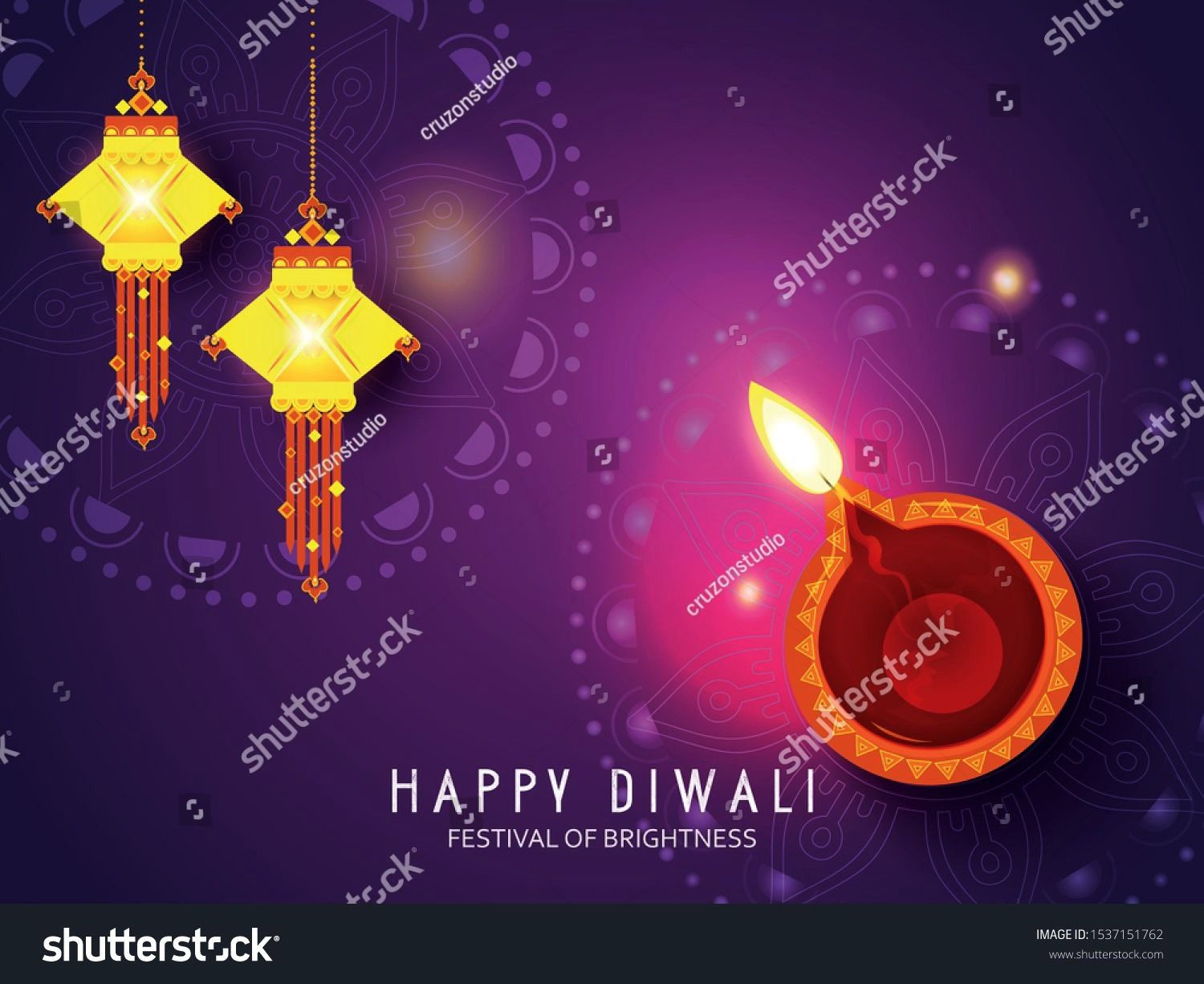 illustration of Diwali festival with stylish beautiful oil lamp and Diwali elements Diwali SALE Diwali Special offer background Vector illustration of Diwali festival wit...