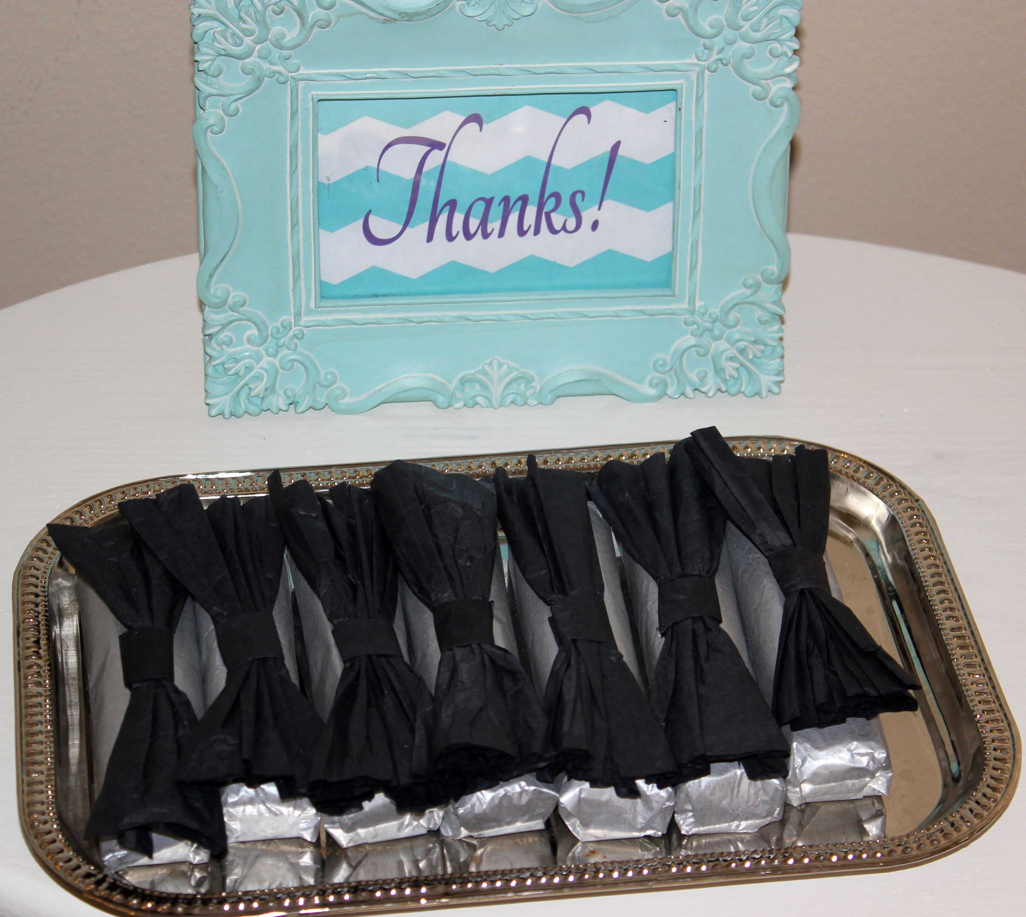bow tie little man theme baby shower favors candy bars. Black Bedroom Furniture Sets. Home Design Ideas