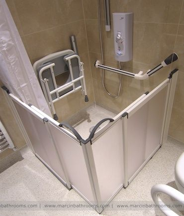 Shower Area For Elderly As They Can Sit Down And Comfortably If Their Legs Get
