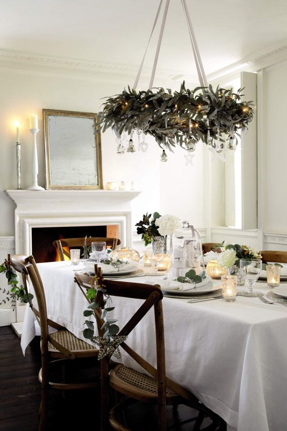 Christmas table setting & Christmas table setting   holiday! it would be so nice!   Pinterest ...