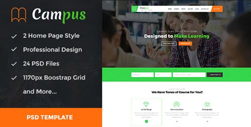 Download themeforest campus education course e learning download download themeforest campus education course e learning and events psd template free maxwellsz