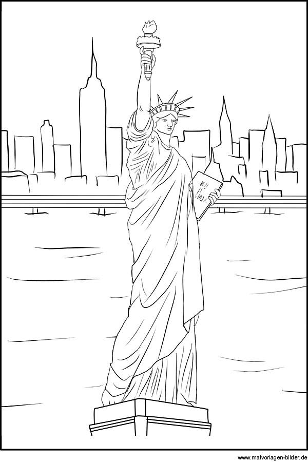 Vereinigte Staaten Malvorlagen Freiheitsstatue Als Ausmalbild Miss Liberty Und New York Druckbar Malvorlagen Ausmalen Bilder