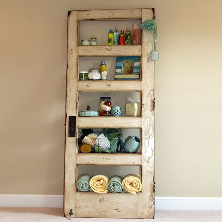 ideas and ways to repurpose upcycle recycle use old doors bathroom shelving  storage unit - Ideas And Ways To Repurpose Upcycle Recycle Use Old Doors Bathroom