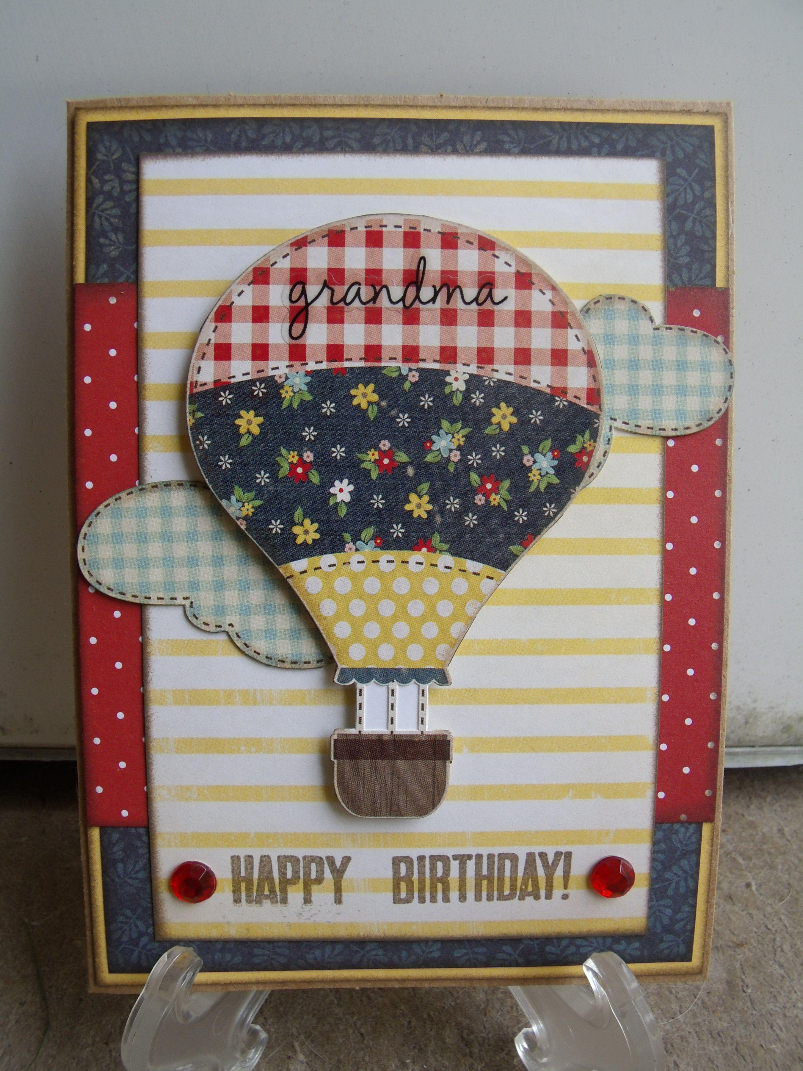 Grandma happy birthday scrapbook cards created by me