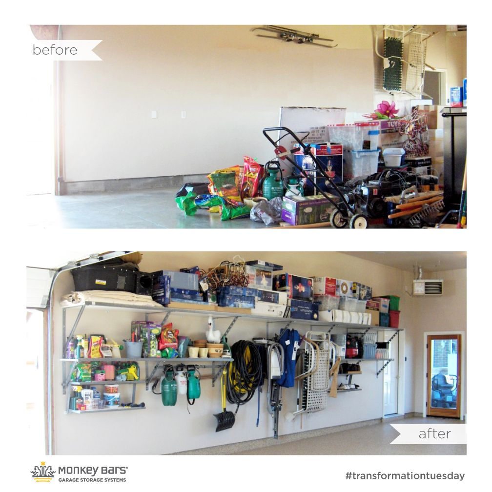 of organization garage help perfect bars products monkey the storage with system pin bar