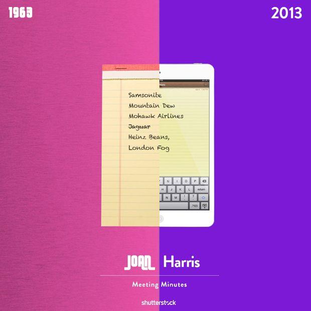 Mad Men: 1963 vs. 2013 - Joan Harris #MadMen