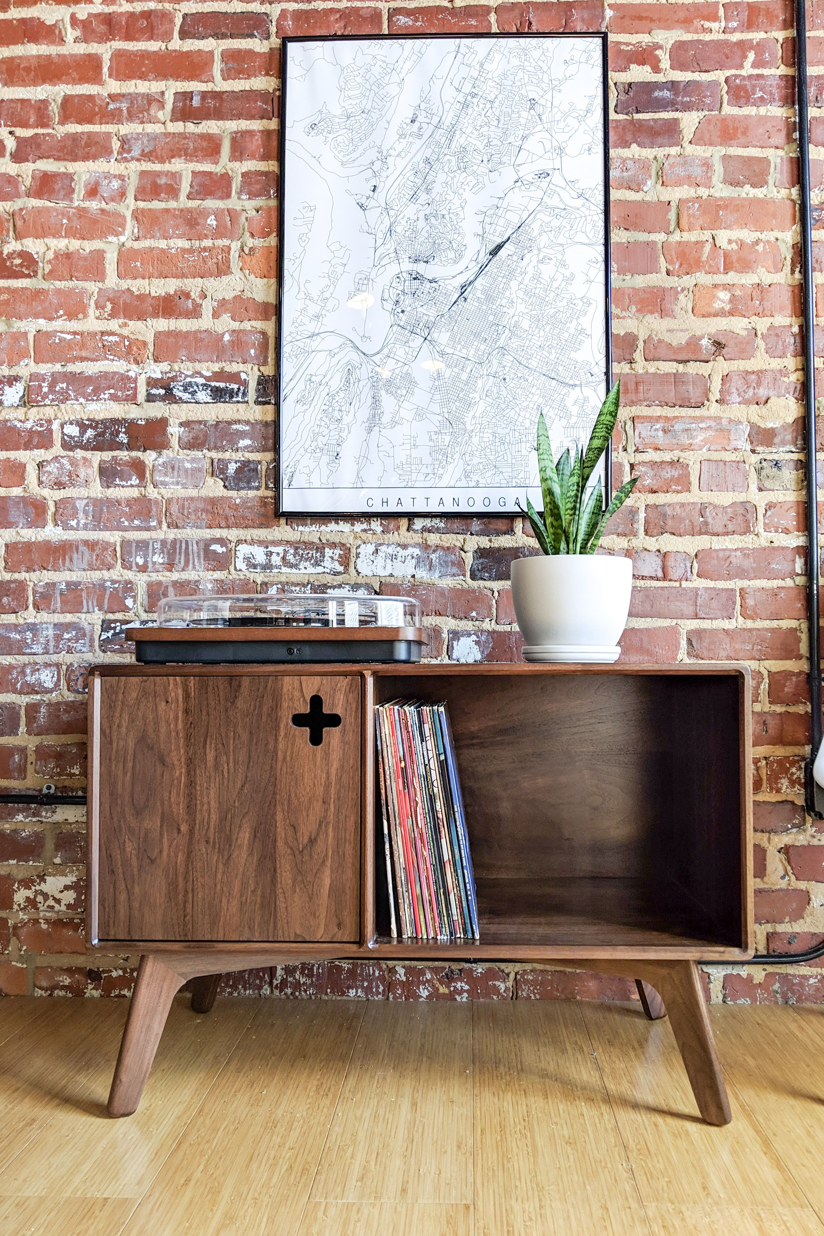 This Mid Century Modern Record Player Stand Has Quickly Become The Best Selling Product At M Record Storage Record Storage Cabinet Mid Century Modern Furniture