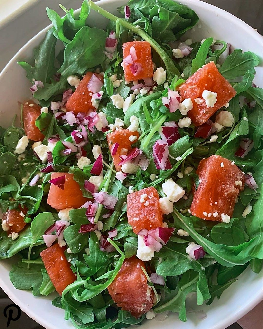 A busy week ahead means quick easy lunches  This Arugula Watermelon Salad is a summer favorite L A busy week ahead means quick easy lunches  This Arugula Watermelon Salad...