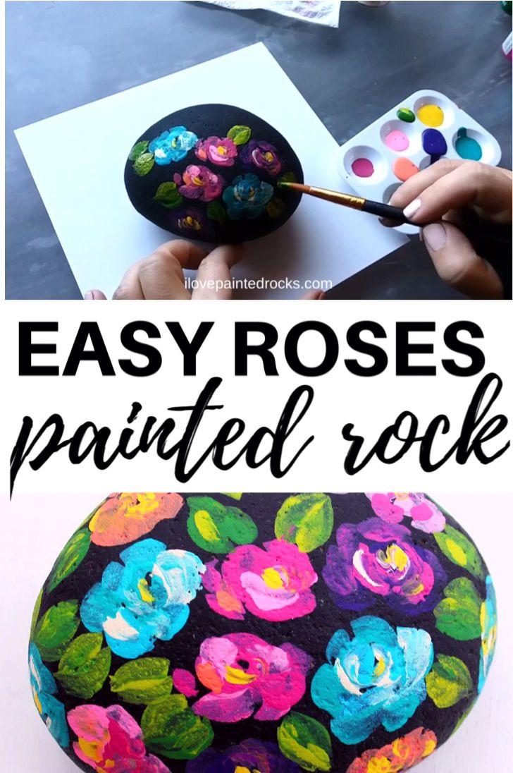Photo of Flower Painted Rock Tutorial