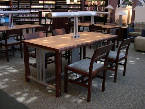 Worden Folio Reading Tables With Data Port Lamps And