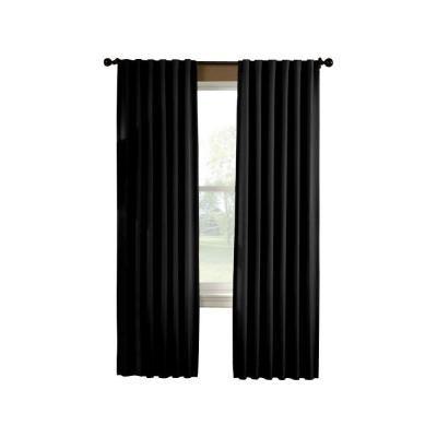 Curtainworks Semi Opaque Saville 108 In Black Thermal Curtain