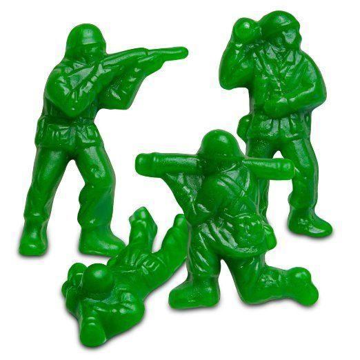 Green Army Men Gummies!  Albanese World's Best Green Apple Green Gummi Army Guys in Bulk Standup Pouch (1 Pound)