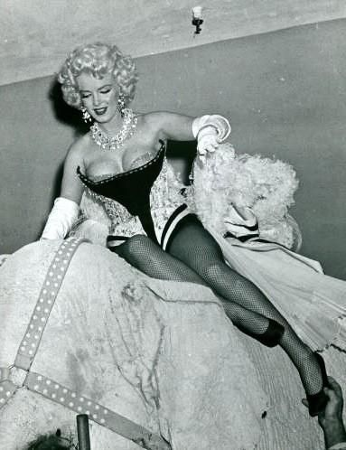 Marilyn Monroe at the Ringling Brothers Circus Charity Gala at Madison Square Garden, March 1955.