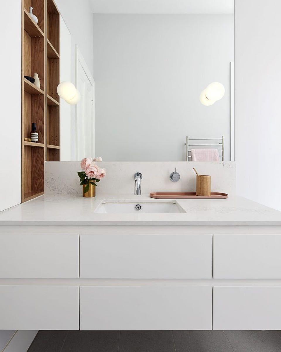 35 Relaxing Undermount Kitchen Sink White Ideas Home Decor Best Home Decor Ideas In 2020 White Vanity Bathroom Bathroom Vanity Undermount Bathroom Sink