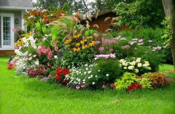 gartengestaltung ideen anlegen bilder modern blumenbeet   Pflanzen ...