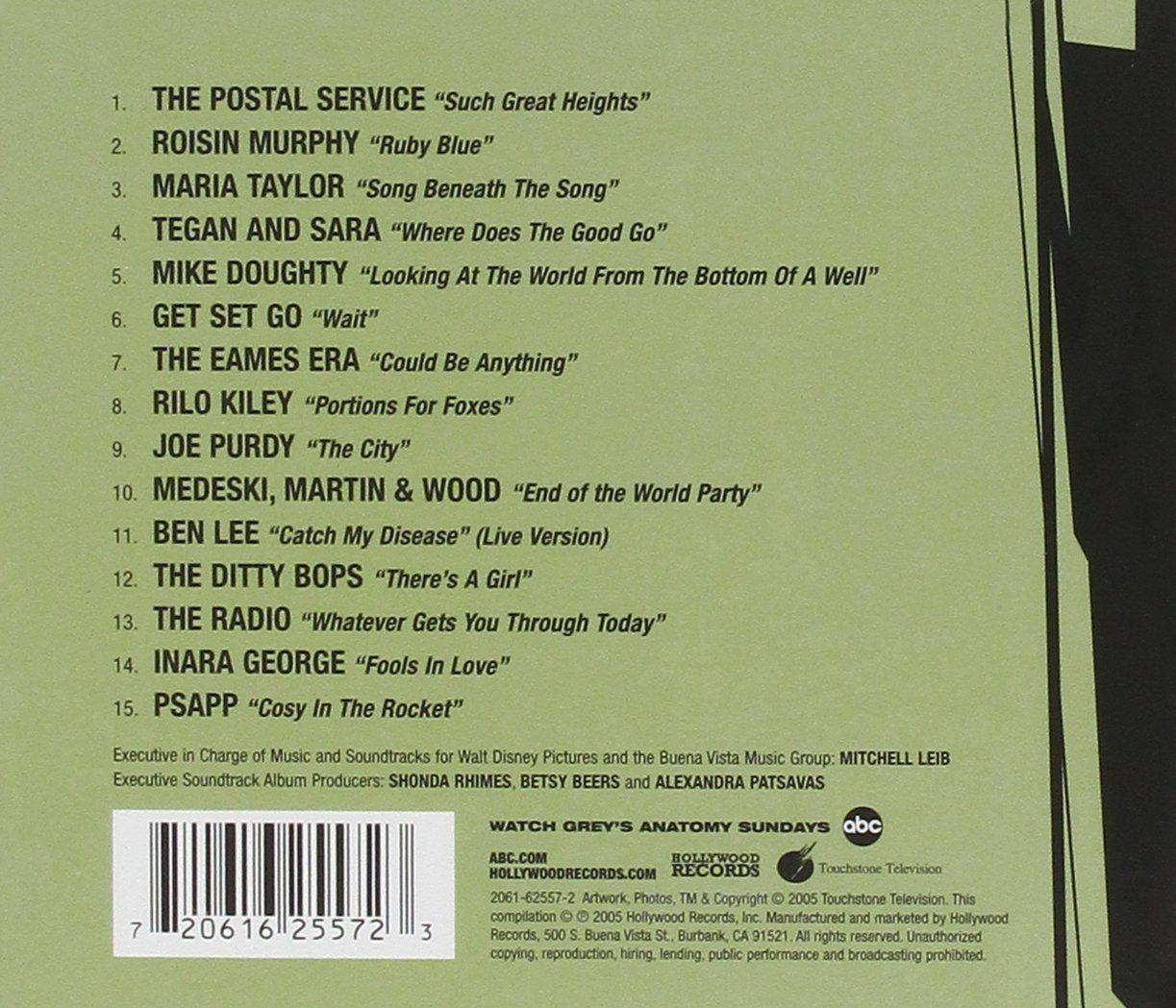 Soundtrack Greys Anatomy Tv Amazon Music Music