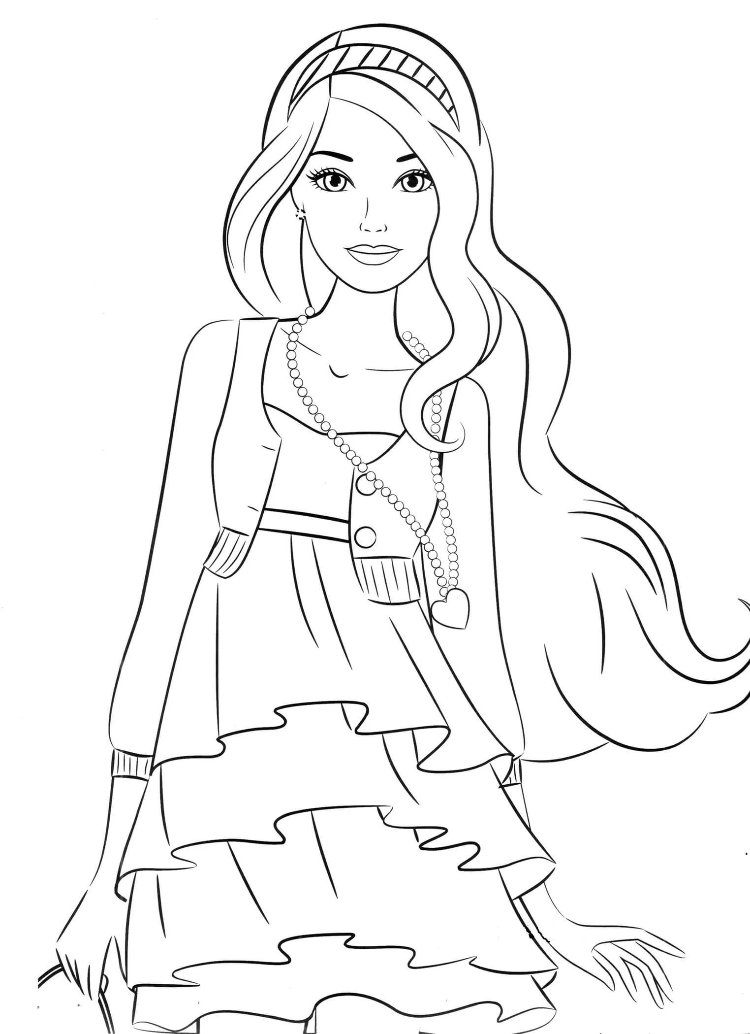 Printable Coloring Pages For 9 Year Olds With Images Barbie
