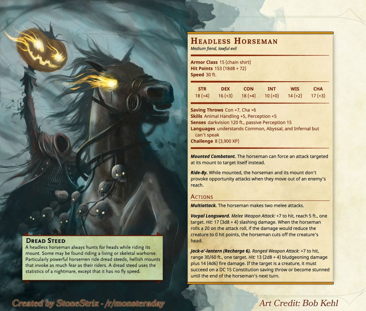DnD 5e Homebrew — Monsters by Stonestrix | D&D in 2019