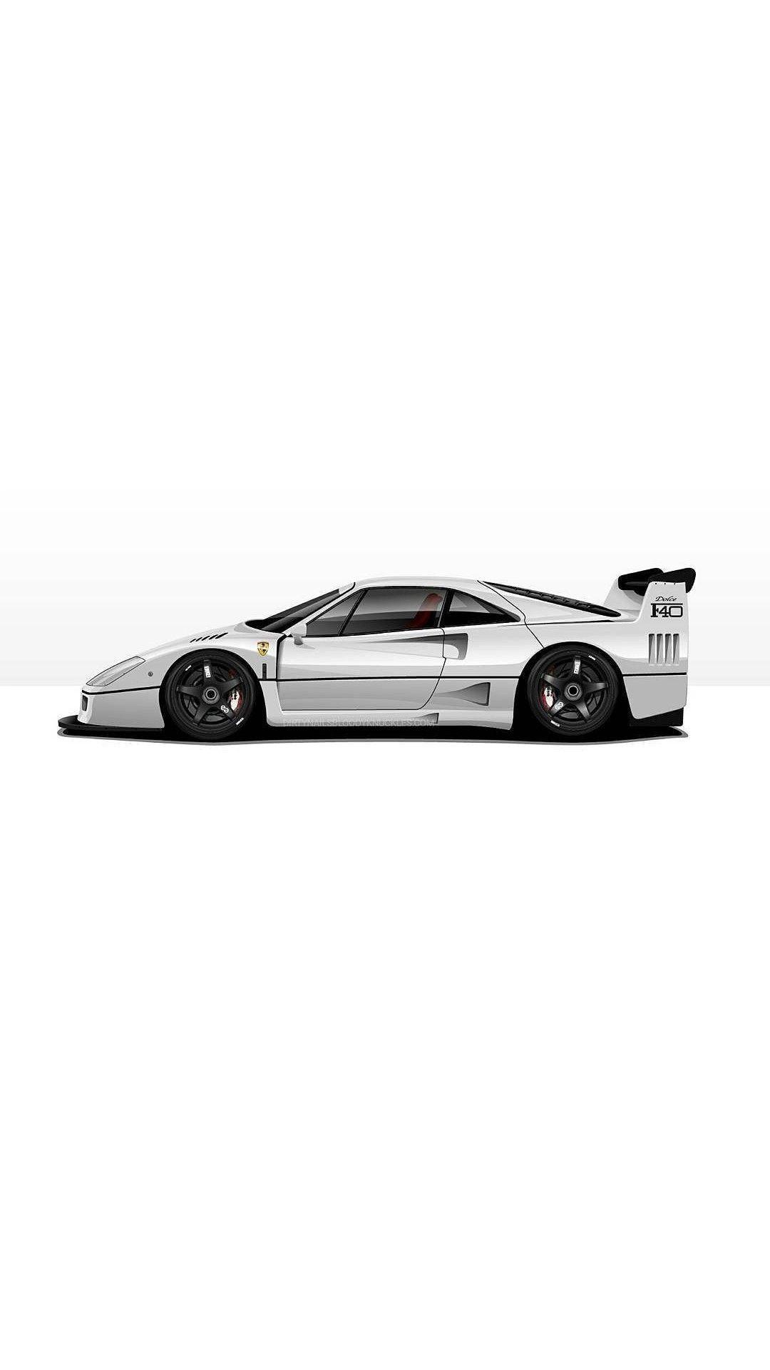 Ferrari F40 With Images Ferrari F40 Motor Car Car Art