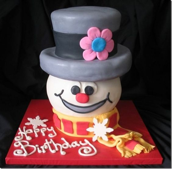 Terrific Frosty The Snowman Cake