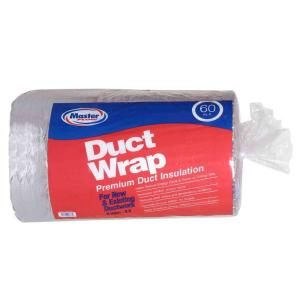 Master Flow 60 Sq Ft R 6 Insulated Duct Wrap Inswrp60 At The Home Depot Duct Insulation Duct Work Hvac Ductwork
