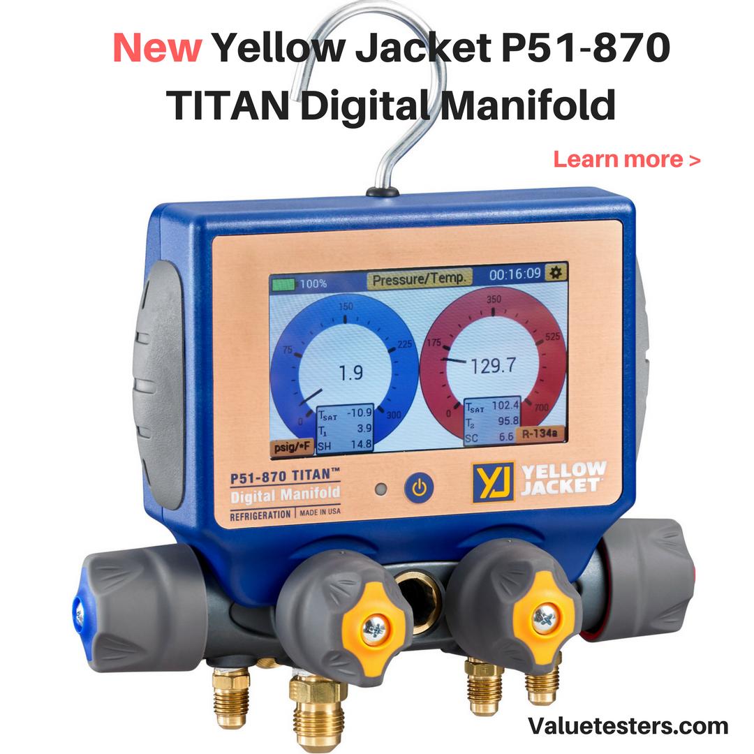 Yellow Jacket Digital Manifold P51 870 Titan Gauges