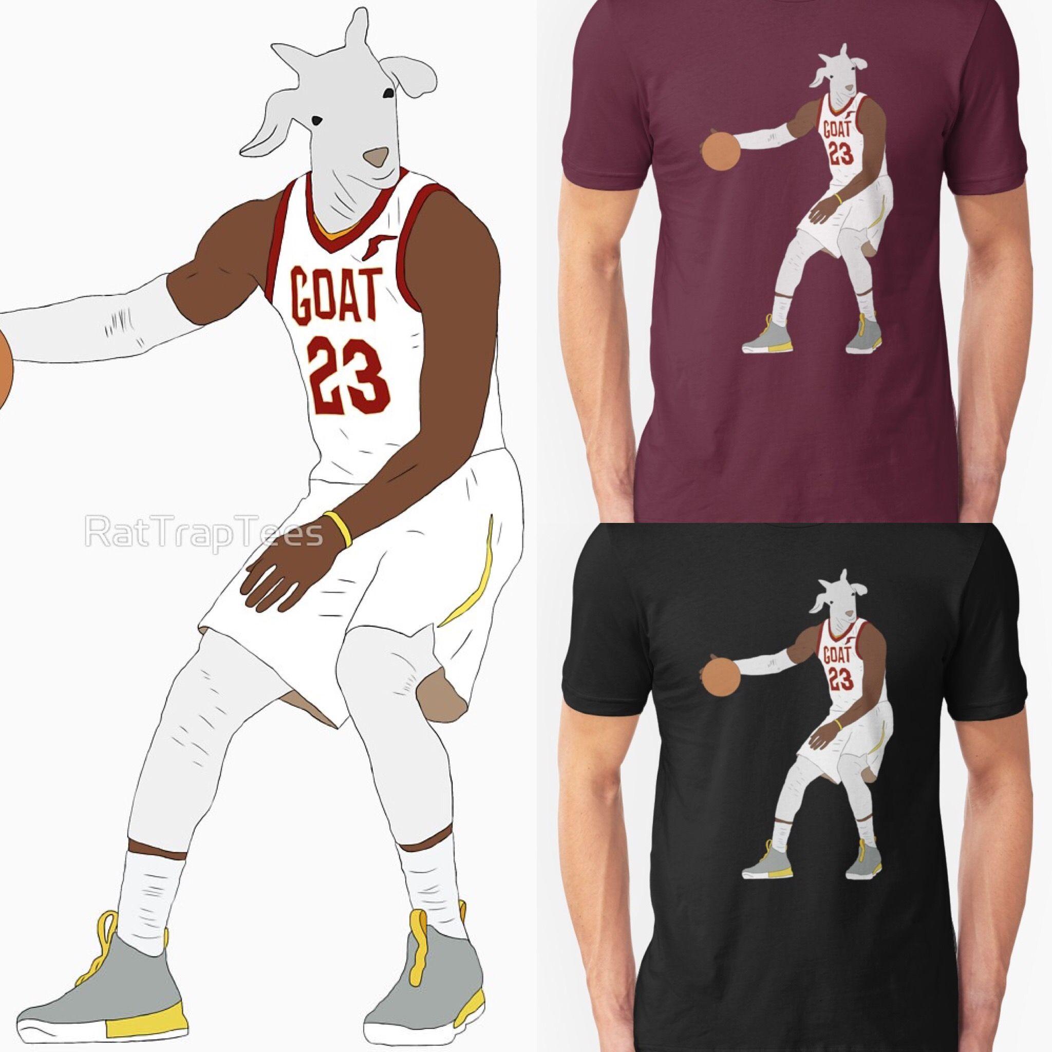 outlet store 4753d 83024 LeBron James GOAT Shirt | NBA T-Shirts | Nba t shirts ...