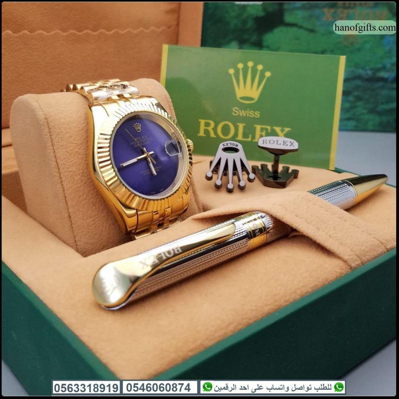 ساعات رولكس رجالي مع قلم و كبك رولكس و علبه فخمه هدايا هنوف Michael Kors Watch Gold Watch Kors Watches