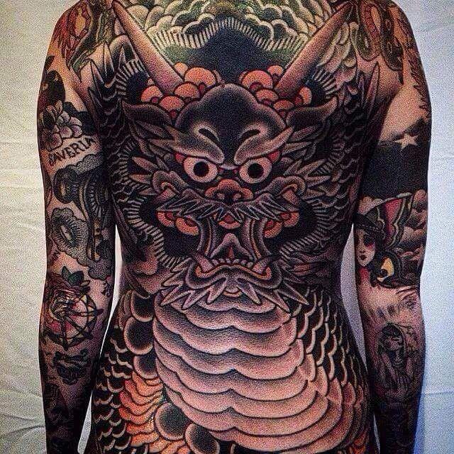 Yakuza Tattoo Neck Body Suit Tattoos in 2020 Dragon