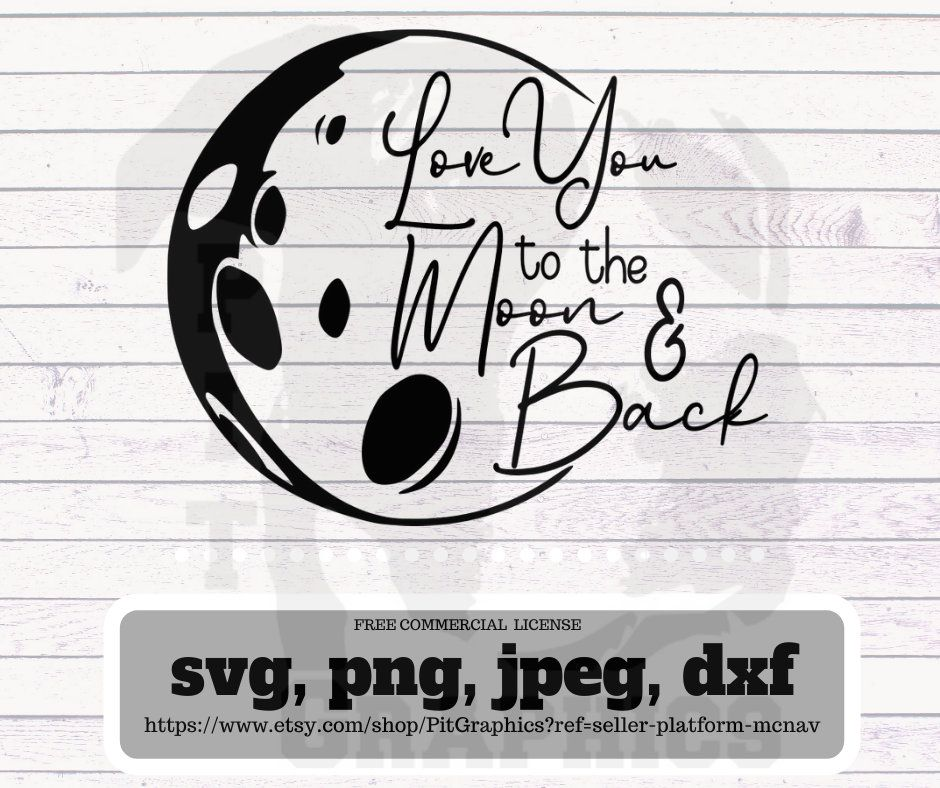 Download Love you to the moon and back svg (With images) | Svg