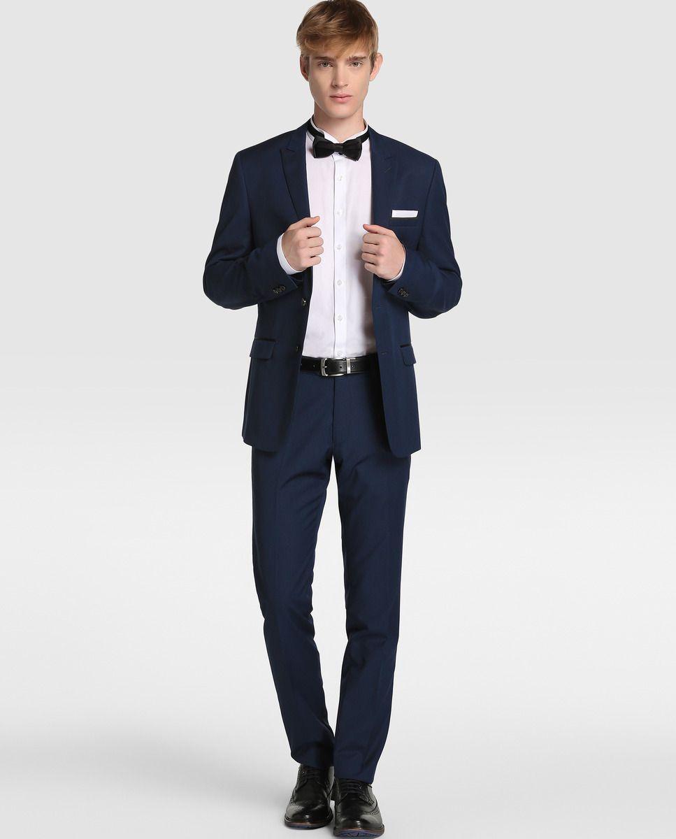 1cbe38051 Americana de traje de hombre Fórmula Joven slim azul