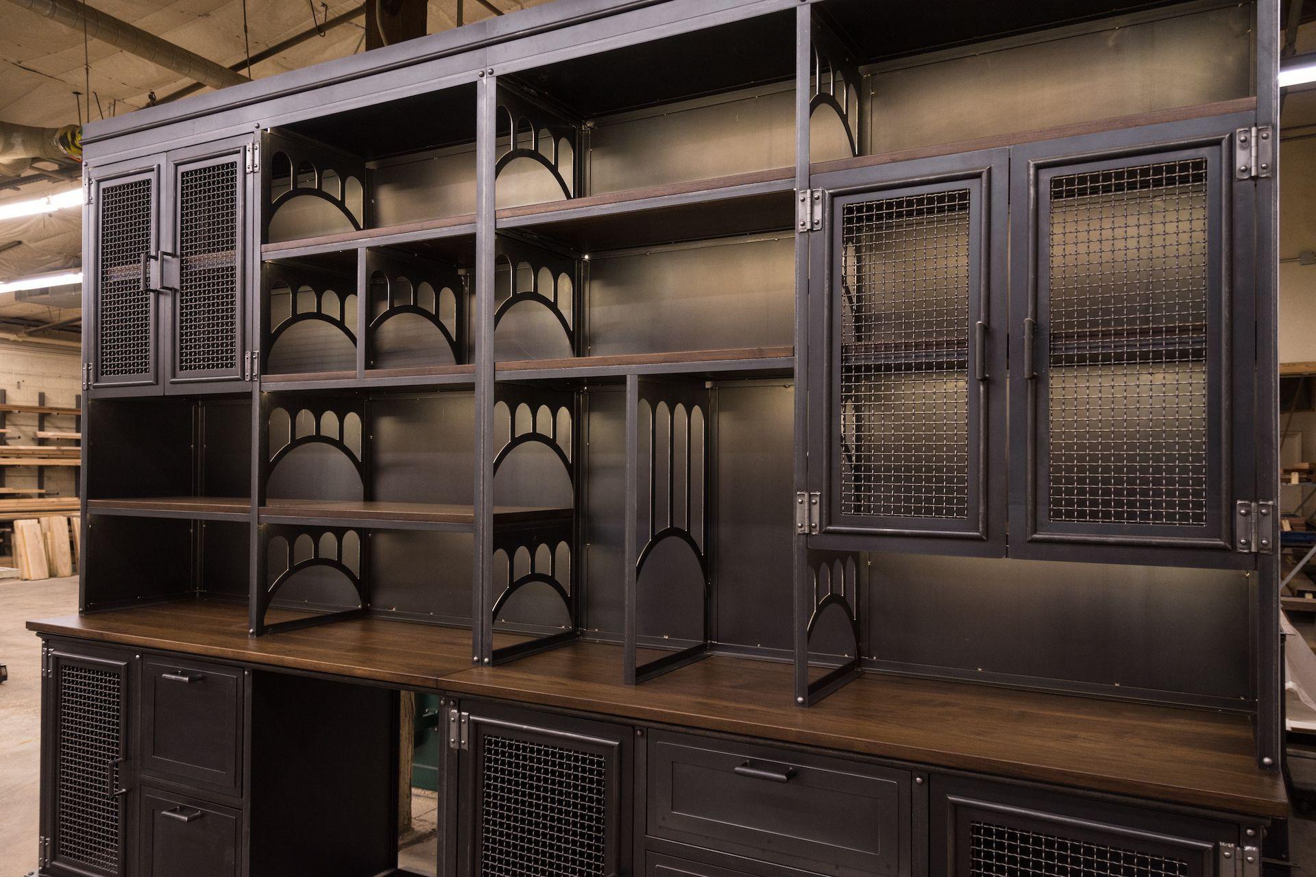 Vi Wall Unit Vintage Industrial Furniture Industrial Furniture Industrial Design Furniture