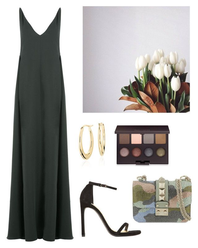Untitled #1727 by whosay on Polyvore featuring polyvore fashion style Valentino Stuart Weitzman Blue Nile Laura Mercier clothing