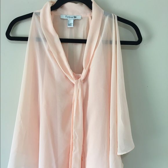 Forever 21 Blush Color layered Top S Like new - gorgeous Statement Top Forever 21 Tops