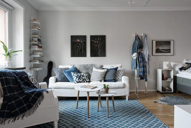 Cómo decorar la primera vivienda \u2013 estudio de alquiler Salons and - decoracion de espacios pequeos