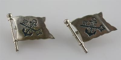 Vintage #norddeutscher German Wwii ? Flag Lapel Pins Blue #enamel #anchor U0026  Key