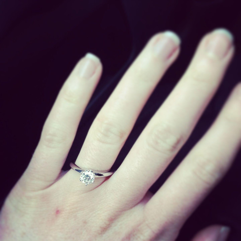 Tiffany Co 1 Carat Engagement Ring 1 Carat Engagement Rings Tiffany Engagement Ring Wedding Rings Engagement