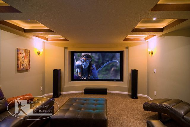 Awesome Basement Home Theater [Make Room For Your Own Cinema] Tag Stunning Basement Home Theatre Ideas Property