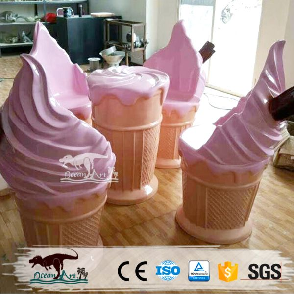 Source Oa22825 Decorative Ice Cream Table And Chair Decoration On M Alibaba