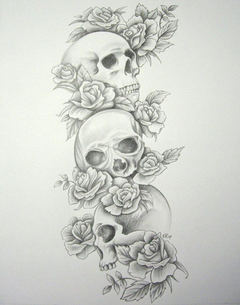 tattoo sleeve designs for girls free download skull roses sleeve
