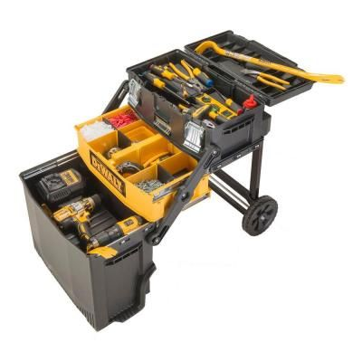 b938166942d DEWALT 16 in. 4-in-1 Cantilever Tool Box Mobile Work Center ...