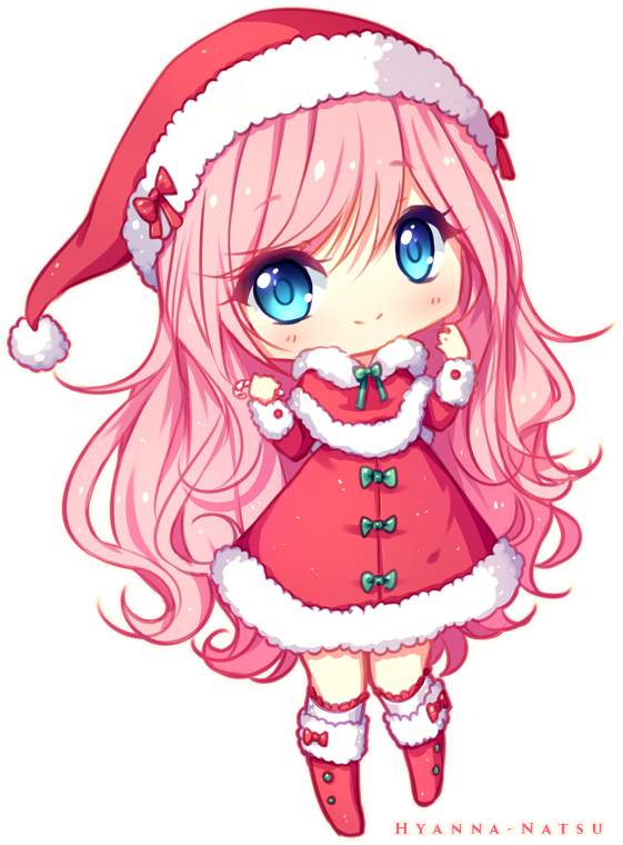 Commission Christmas Lindy By Hyanna Natsu On Deviantart Cute Anime Chibi Anime Christmas Anime Chibi