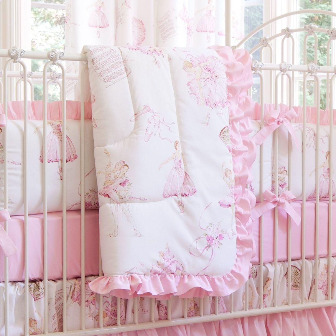 Royal Ballet Crib Comforter With Ruffle Carouseldesigns Crib
