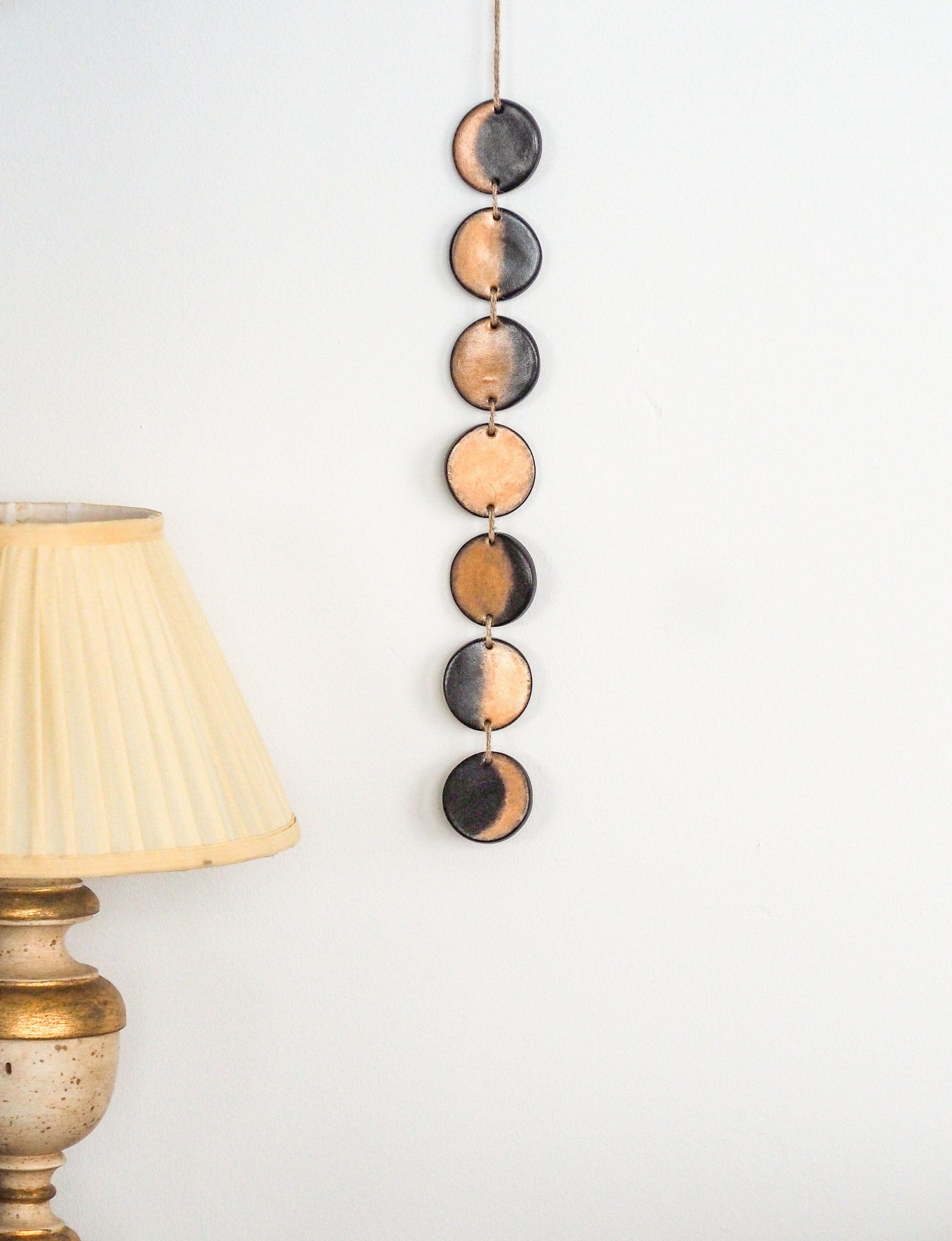 Moon phase art Moon phase wall hanging Celestial wall