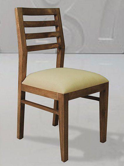 Silla de comedor tapizada URBAN de Bambó Blau. De madera de teca ...